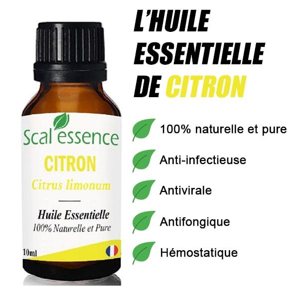 propriétés huile essentielle de citron